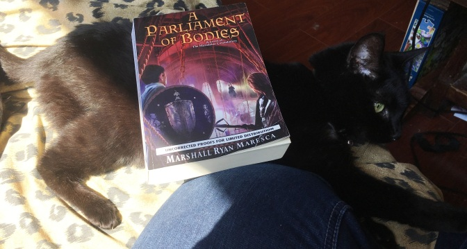 A Parliament of Bodies – Reviewing the Latest  Installment of the Maradaine Series!