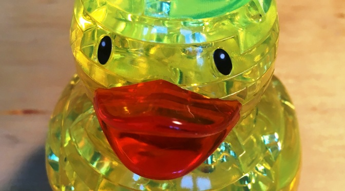 Just Ducky! Crystal Rubber Duck 3D Puzzle